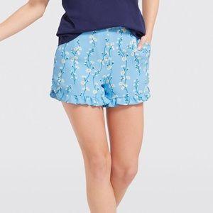 Draper James Daisy Vine Ruffle Shorts